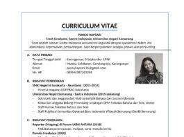 Contoh CV Mahasiswa yang Masih Kuliah