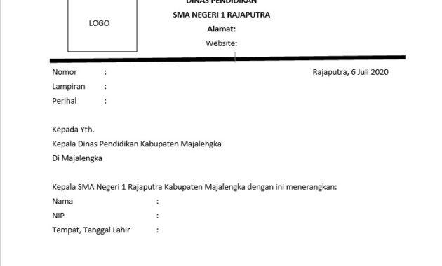 Contoh Surat Izin Atasan Untuk Kuliah