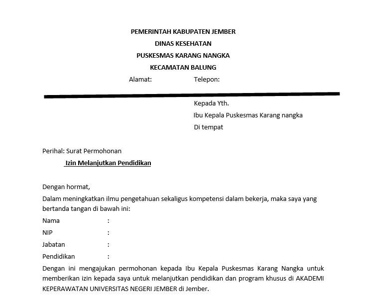 Contoh Surat Izin Atasan Untuk Kuliah terbaru